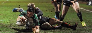 Eoghan Masterson scores his side's third try 11/2/2016